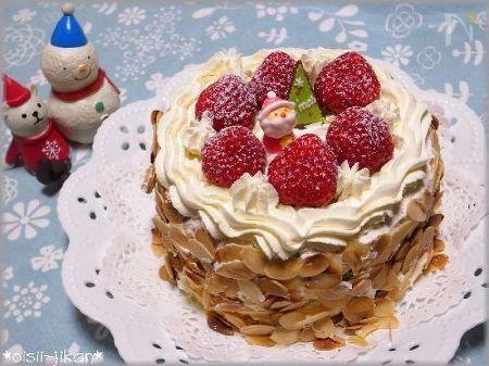 いちごのデコレーションケーキ