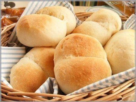 HBでふんわり白パン