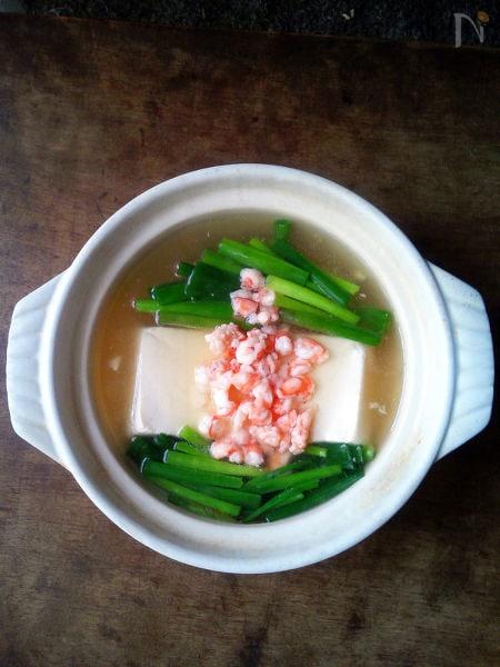 滑らか絹ごし豆腐の海老あん鍋
