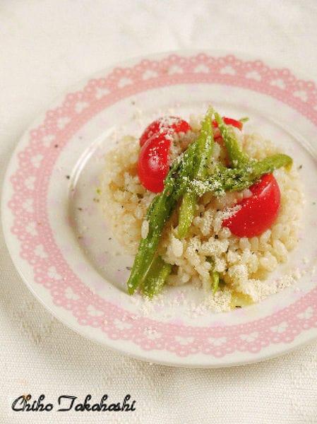 アスパラの発芽玄米サラダ