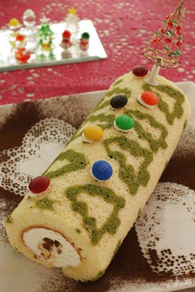 クリスマスに♪お絵かきロールケーキ