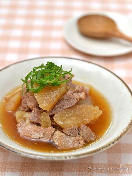豚肉と大根のうま煮