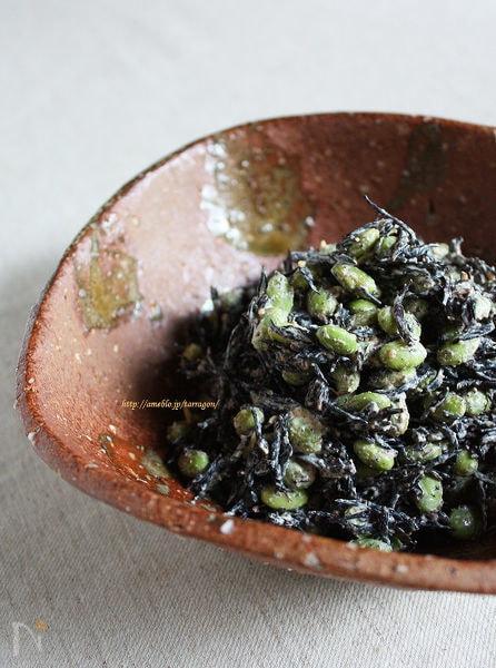発芽豆とひじきの胡麻だくサラダ