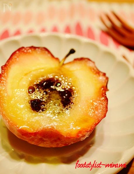 グリルで簡単!焼きりんご