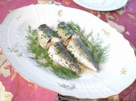 鯖のハーブソース煮