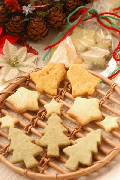 ホウレン草&レモン&人参のクリスマスクッキー