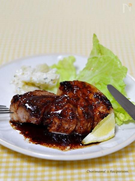 豚肩ロースステーキ・こくうまソース