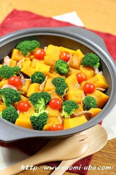南瓜とベーコンのスープ煮