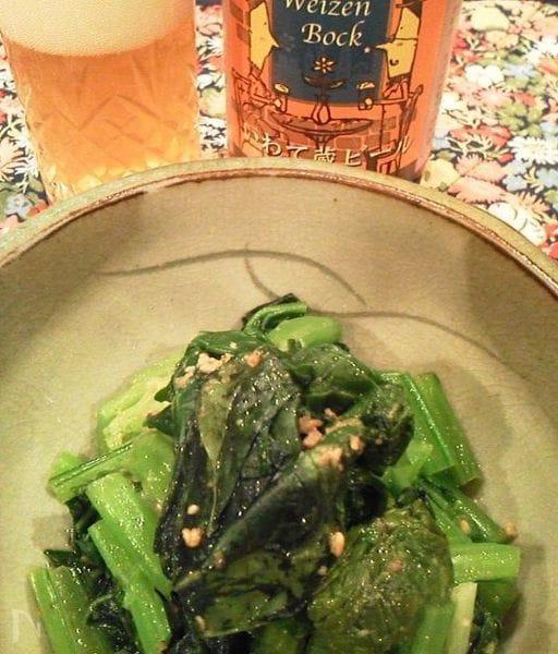 アガペシロップで青菜のナムル