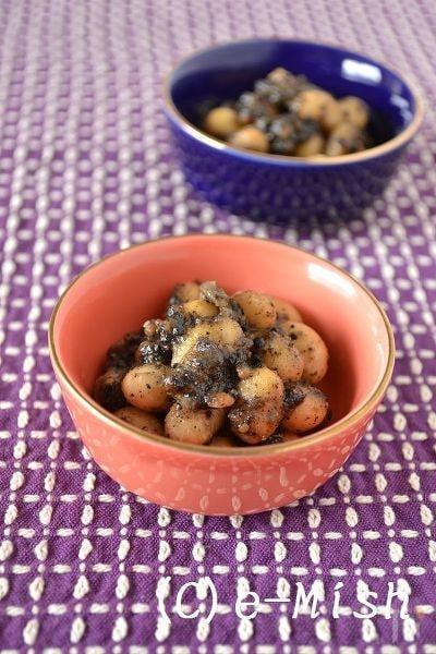 大豆のごま味噌煮