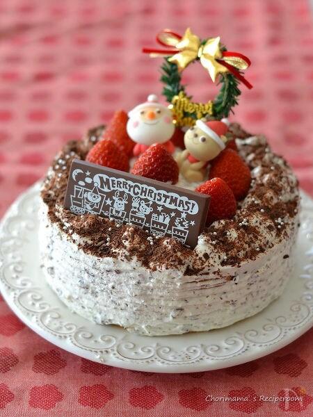 チョコチップクリームショートケーキ(デコレーション)