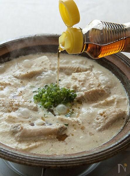 ごま香るホワイト豆乳鍋
