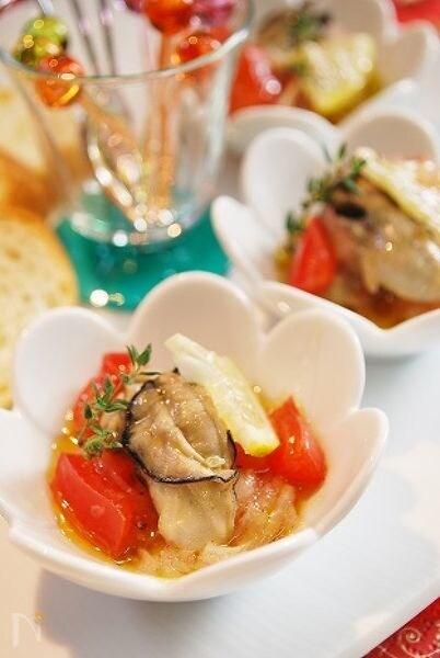 牡蠣とトマトのイタリアンマリネ