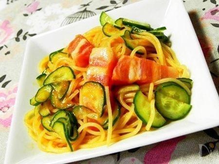 パンチェッタ入りのご馳走スパゲティサラダ