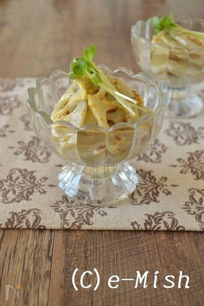 蓮根の味噌マスタードマリネ