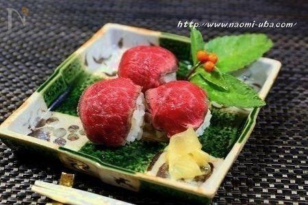 牛肉手まり寿司