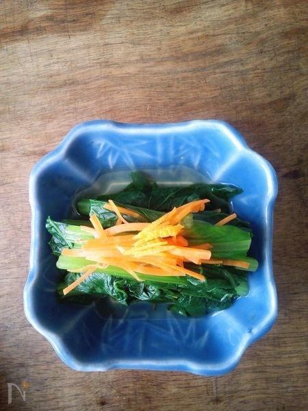 小松菜の煮浸し 柚子風味