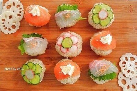 初春の手毬寿司