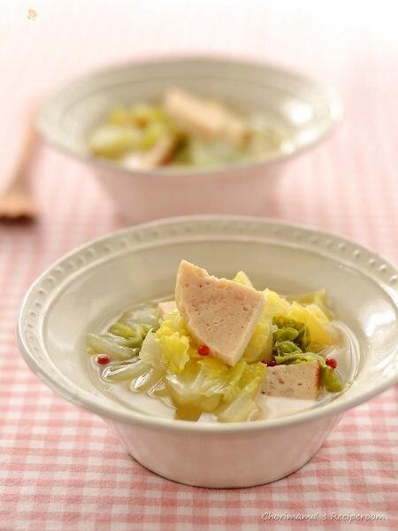 チキンハムと白菜のスープ
