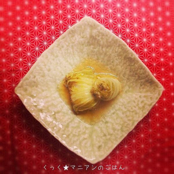 塩昆布と豚こまで☆ロール白菜