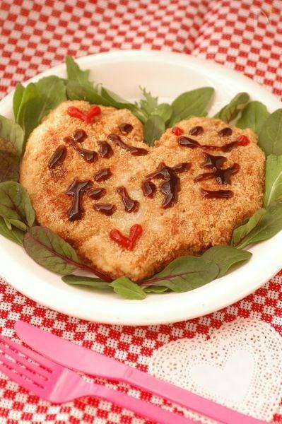 バレンタインに♥♡豚こまのハート型豚カツ♥♡