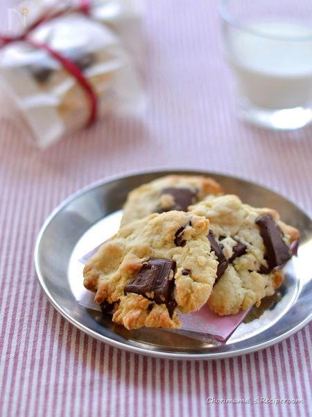 ぽっきり板チョコチップクッキー