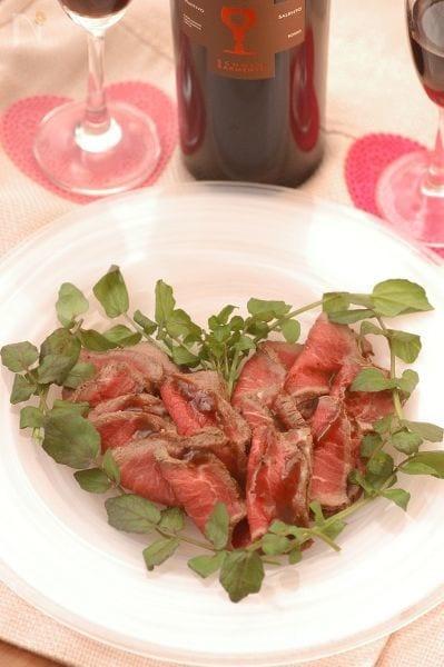 バレンタインローストビーフ♡ほんのりチョコ風味ソース