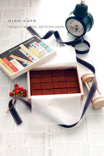 大人味の生チョコ♪板チョコ×電子レンジ by hiro(ヒロ)さん