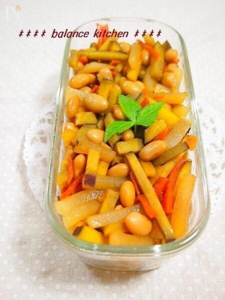 常備菜 さつまいも入り!大根と大豆のジンジャーきんぴら