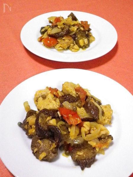 ◆干しナス・ドライトマト・テンペ の洋風炒め煮◆