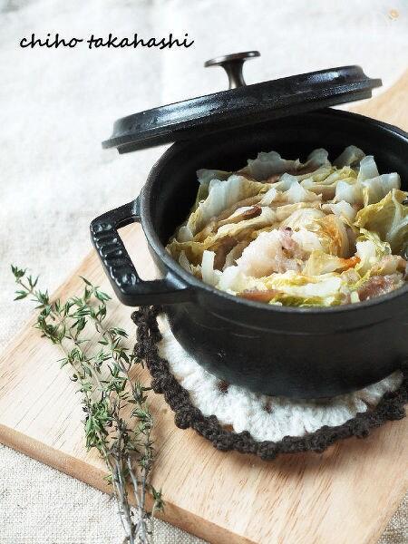 豚肉と白菜のタイムビネガー蒸し