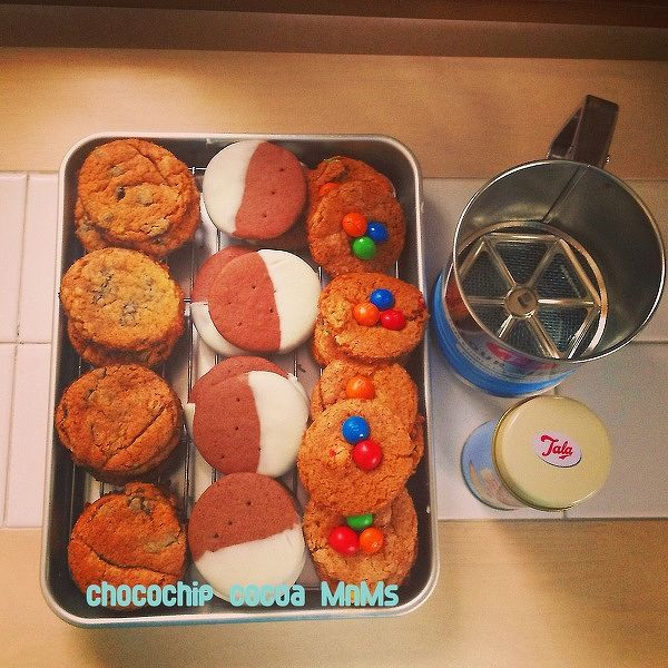 3種類のアメリカン・クッキー