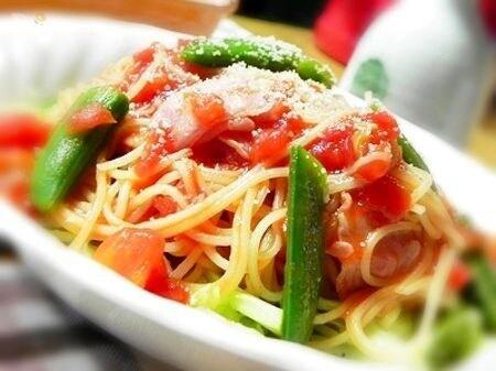 サラダスパゲティで作る食べやすいトマトパスタ