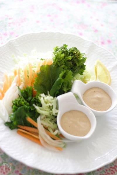 春サラダ 豆腐胡麻ドレッシング和え