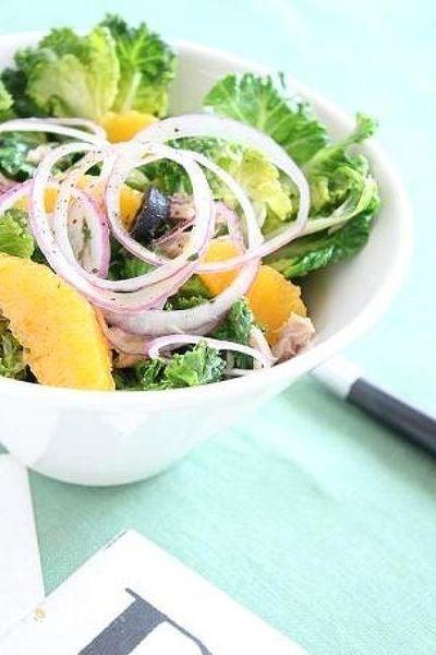 プチヴェールのサラダ オレンジヴィネグレットソース