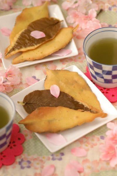 お花見に持って行こ♪ 桜の葉まるごとクッキー