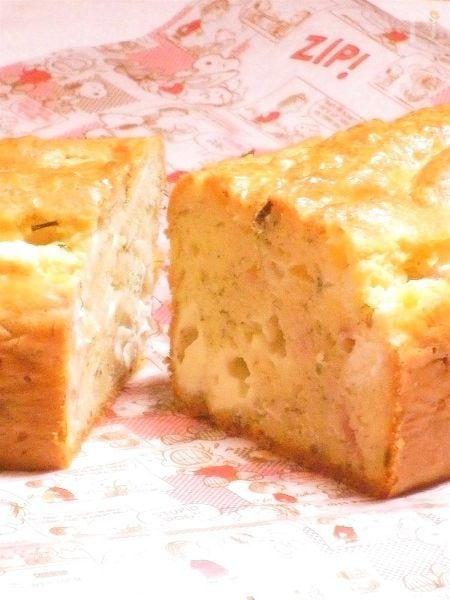 ディルとクリームチーズのケークサレ