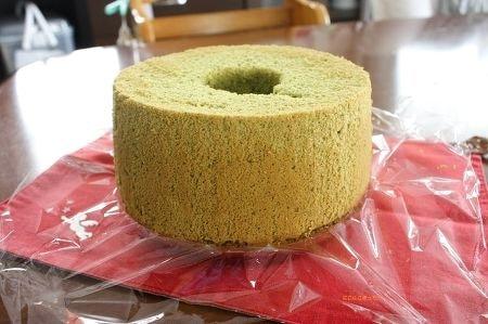 米粉抹茶シフォン