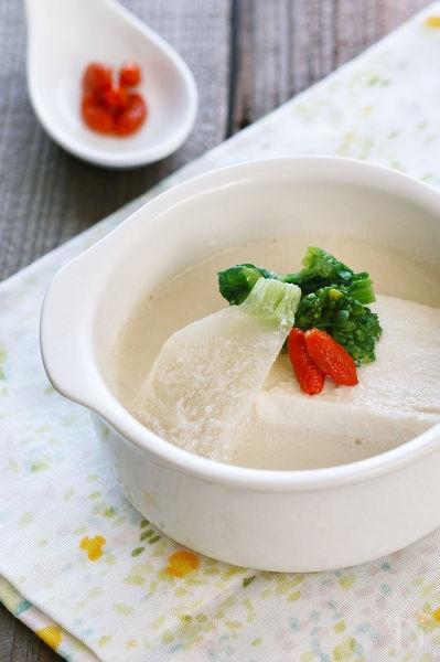 和風の豆乳スープ