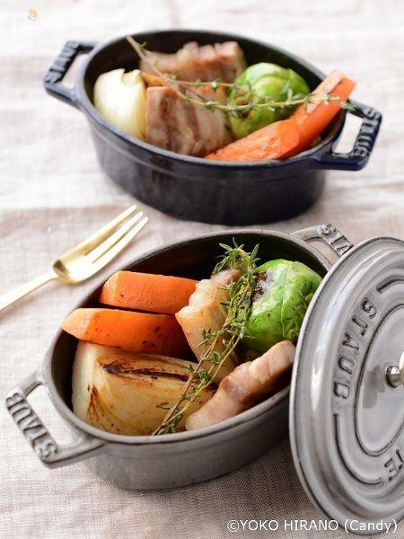 塩豚と野菜のハーブ蒸し