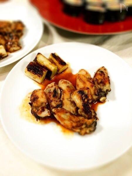 牡蠣のオイスターソースバター焼き