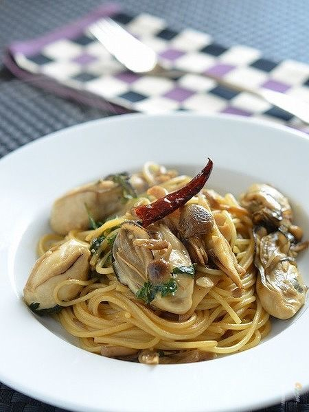 牡蛎ときのこのスパゲティ<全工程写真付>