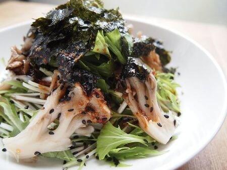 水菜と舞茸の韓国サラダ