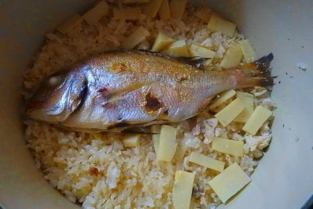 鯛と筍の炊き込みご飯