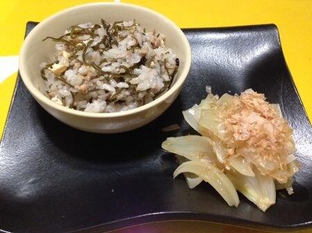 雑穀米のししじゅーしー(沖縄風混ぜご飯)