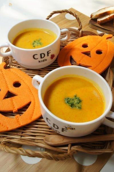 かぼちゃとにんじんのポタージュ