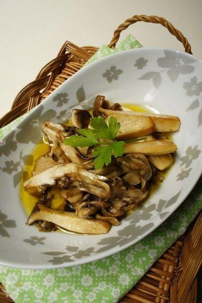 焼きキノコのバルサミコ酢マリネ