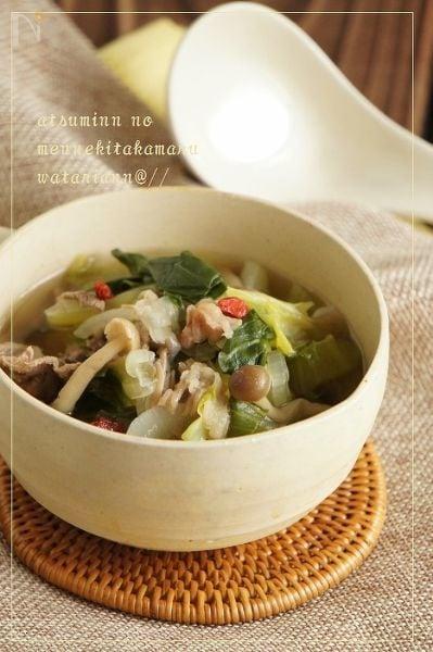 牛肉とクコの実のエナジー春雨スープ