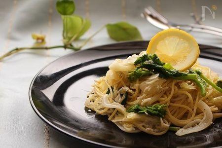 新玉ねぎとしらすのスパゲティ
