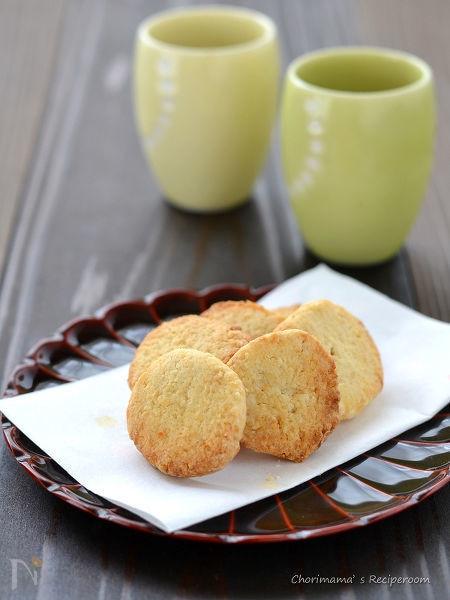 しょうゆ風味の米粉クッキー